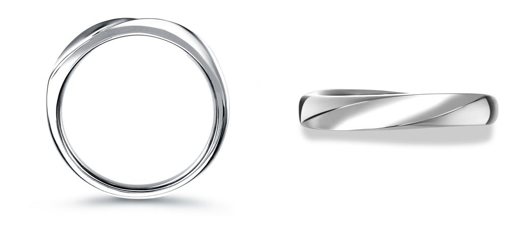 結婚指輪 デザイン うねり