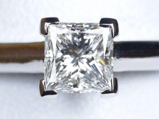 プリンセスカット 0.51カラット F VVS2の婚約指輪 オーダーメイド 東京都国立市のO様
