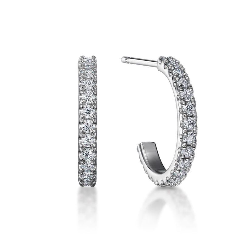 フープピアス ダイヤモンド 0.30ct プラチナ