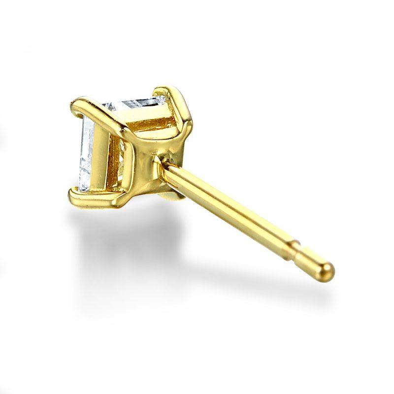 ピアス プリンセスカット ダイヤモンド 0.30ct ゴールド