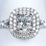 クッションカットの婚約指輪 0.54カラット D IF