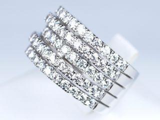 エタニティリング 5列のダイヤモンド