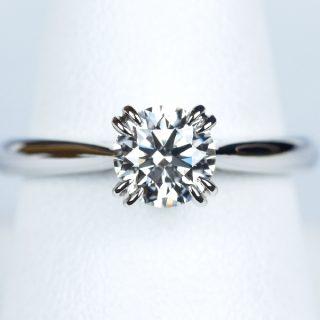 ダイヤモンド 0.669カラット E VVS1 Excellent オーダーメイドの婚約指輪 ソリティア