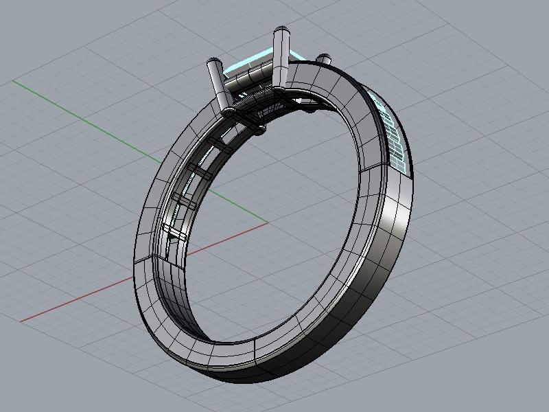 バゲットカット 結婚指輪
