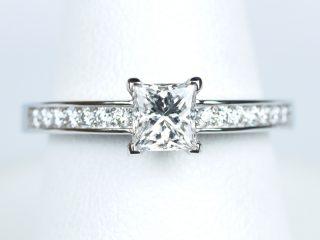 プリンセスカット 0.52カラット 定番で普遍的なデザインの婚約指輪 福岡県福岡市のお客様