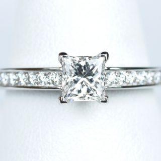 プリンセスカット 0.52カラット ダイヤモンド