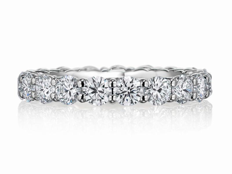 直径3.0ミリのダイヤ フルエタニティリング