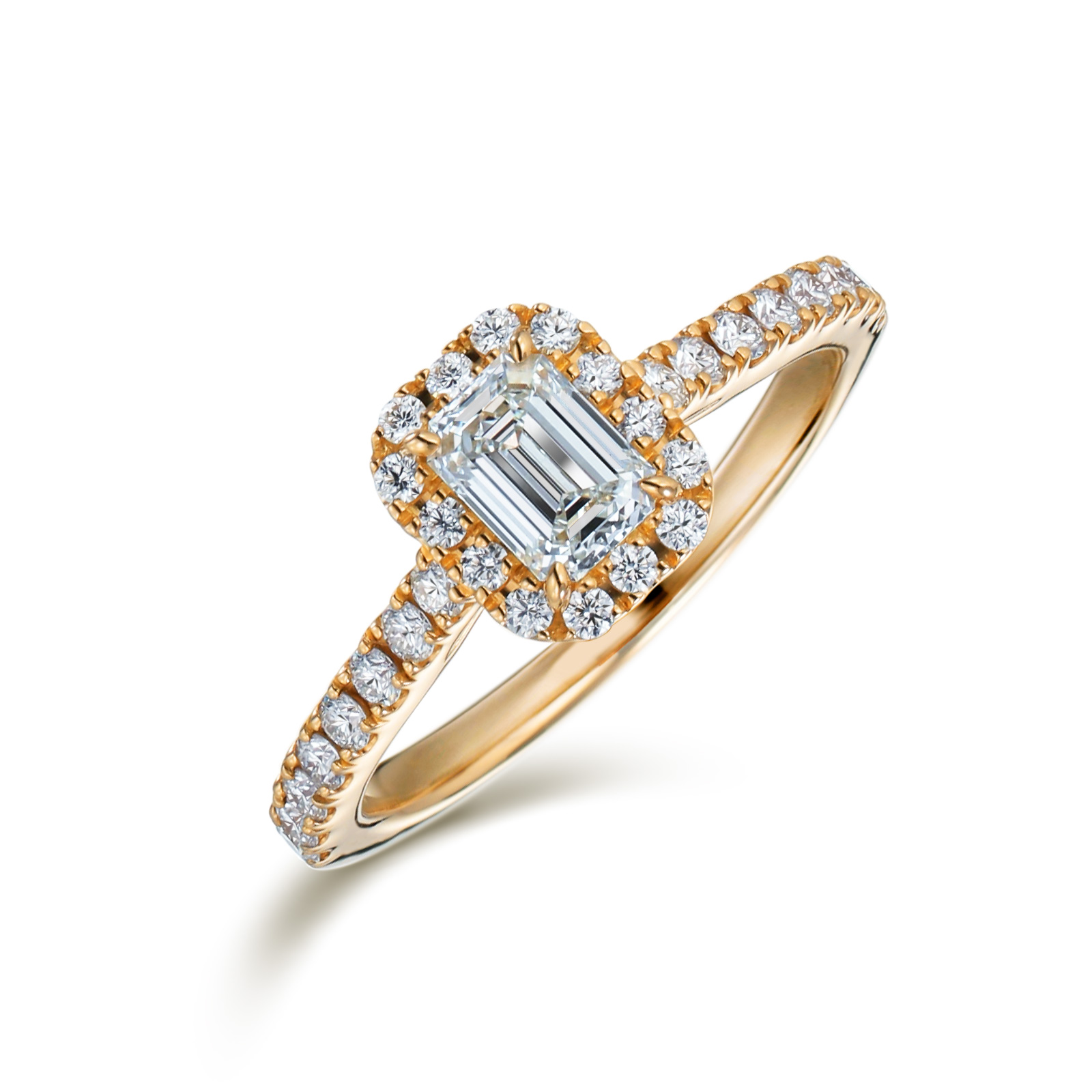 婚約指輪 エメラルドカット