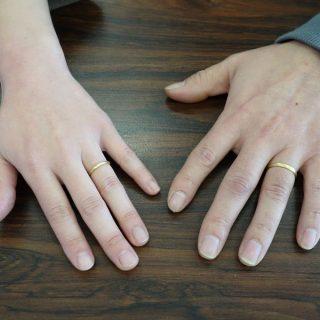 結婚指輪 山梨県甲斐市のお客様 甲丸 つや消し
