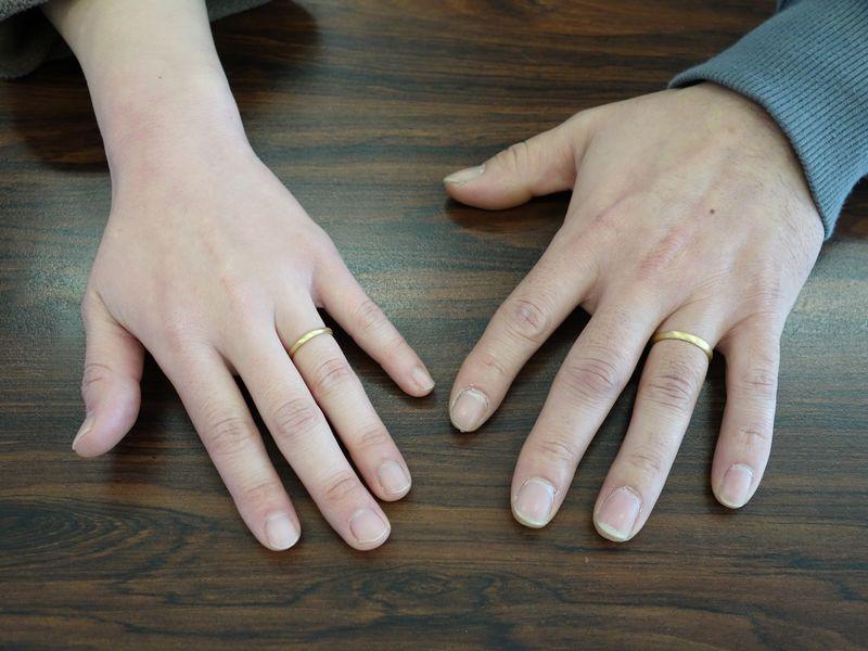 結婚指輪 山梨県甲斐市 甲丸 つや消し