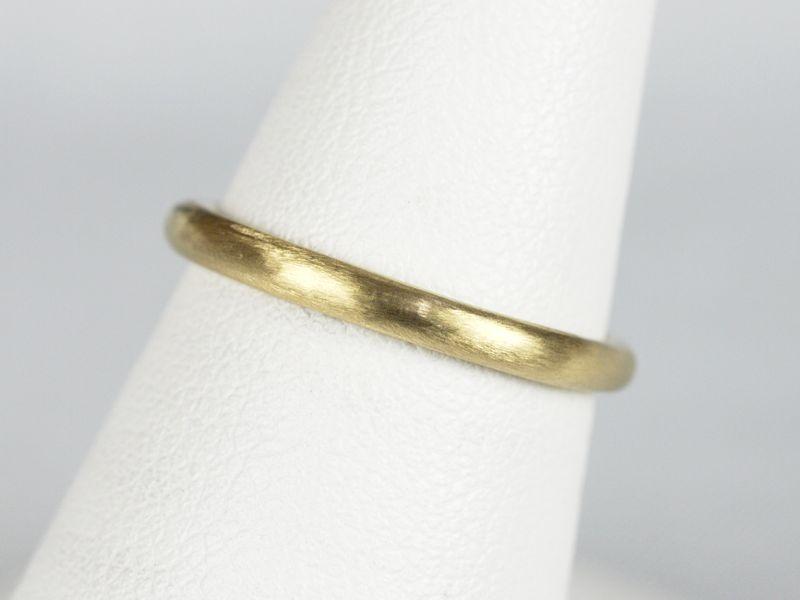 結婚指輪 つや消し イエローゴールド