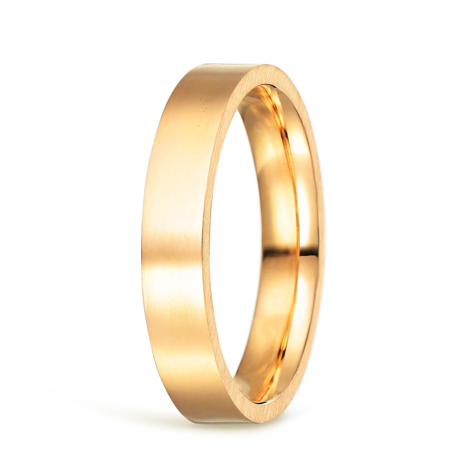 結婚指輪 ゴールド 平打 ツヤ消し
