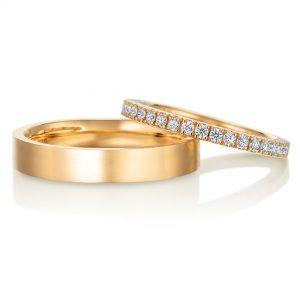 東京都のお客様 エタニティリング 結婚指輪 平打 ゴールド