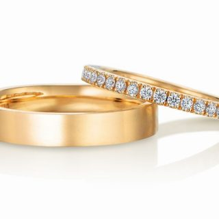 エタニティリング 結婚指輪 ゴールド 平打 ツヤ消し