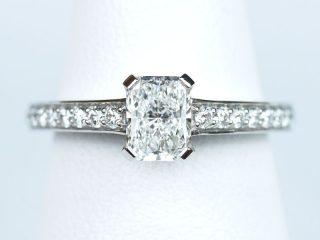 婚約指輪 ラディアントカット 0.52ct D VS1