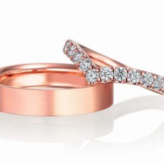 ピンクゴールド 結婚指輪 エタニティリング