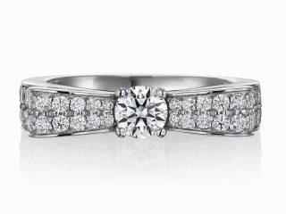 婚約指輪 シャネル 0.31ctダイヤモンド VVS1 3Excellent