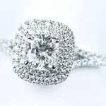 婚約指輪 クッションカット 0.75カラットダイヤモンド