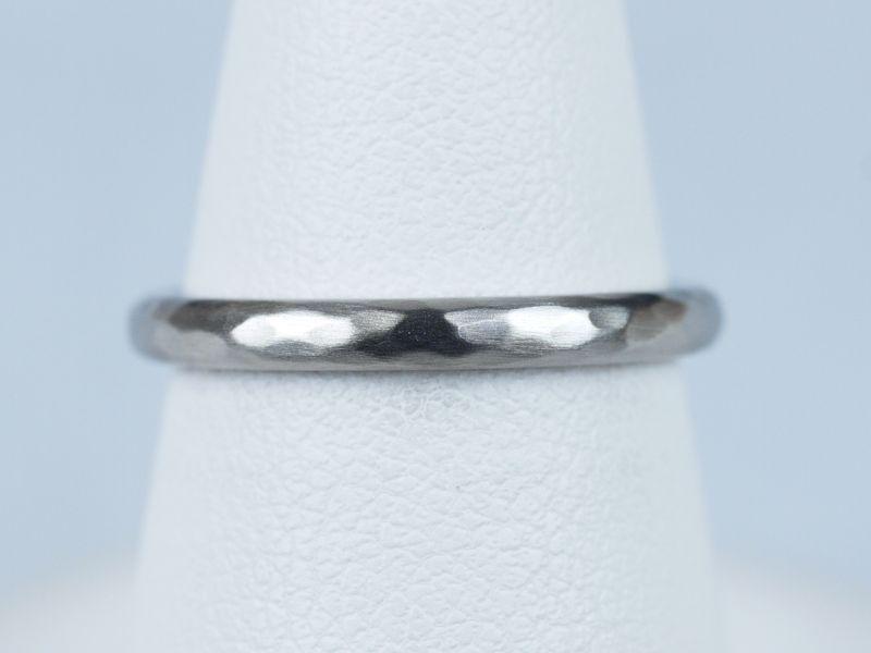 結婚指輪 槌目 ハンマー仕上げ