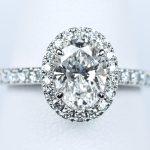 1カラット ダイヤモンド 婚約指輪 オーバルカット 1.01ct F VS1