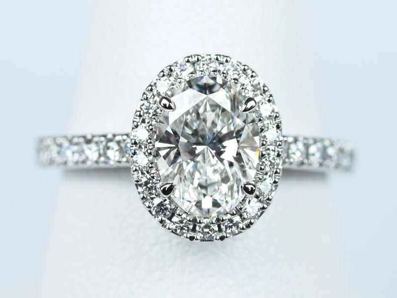 1カラット 婚約指輪 オーバルカット