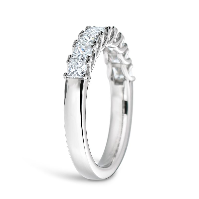 プリンセスカット ダイヤモンド エタニティリング 0.76ct プラチナ