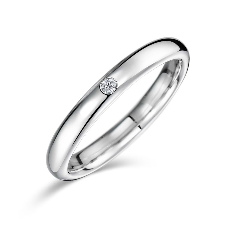 結婚指輪No1 2.5 ダイヤモンド プラチナ 後幅