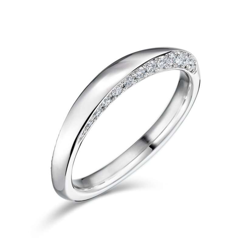 結婚指輪No4 ダイヤモンド 0.18ct プラチナ