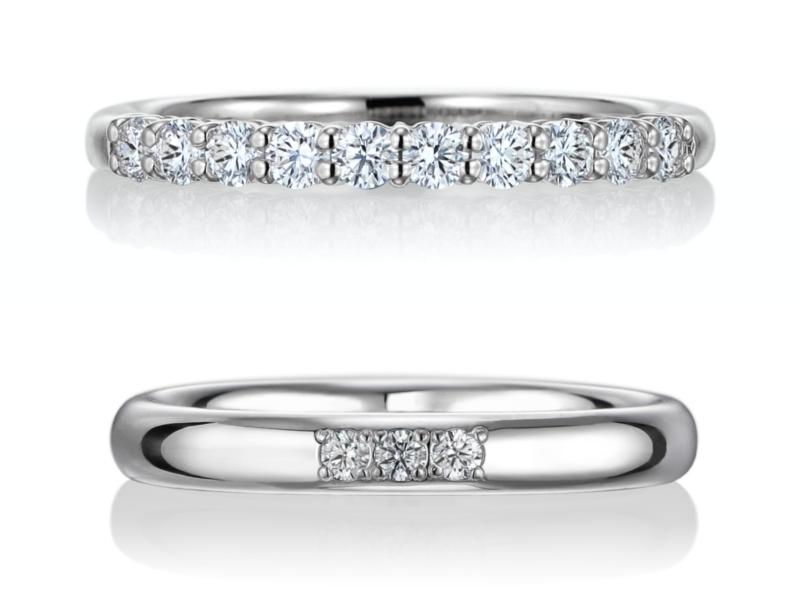 結婚指輪 エタニティリング 重ね付け