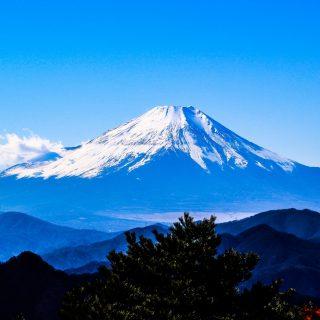 山梨から見る富士山