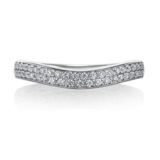 パヴェリング 結婚指輪 MAYU プラチナ(幅2.5mm / Pt950) U字