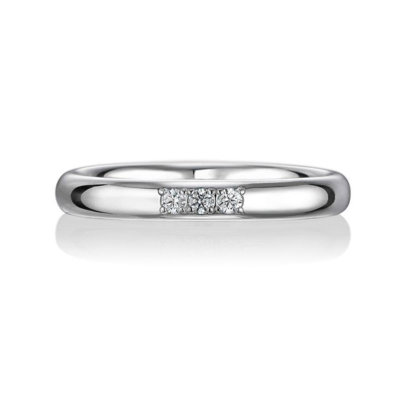 結婚指輪No1 3Diamond 0.03ct プラチナ