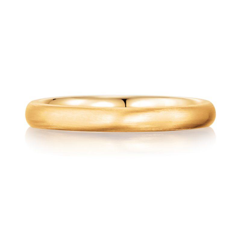 結婚指輪No1 女性用 ゴールド ツヤ消し