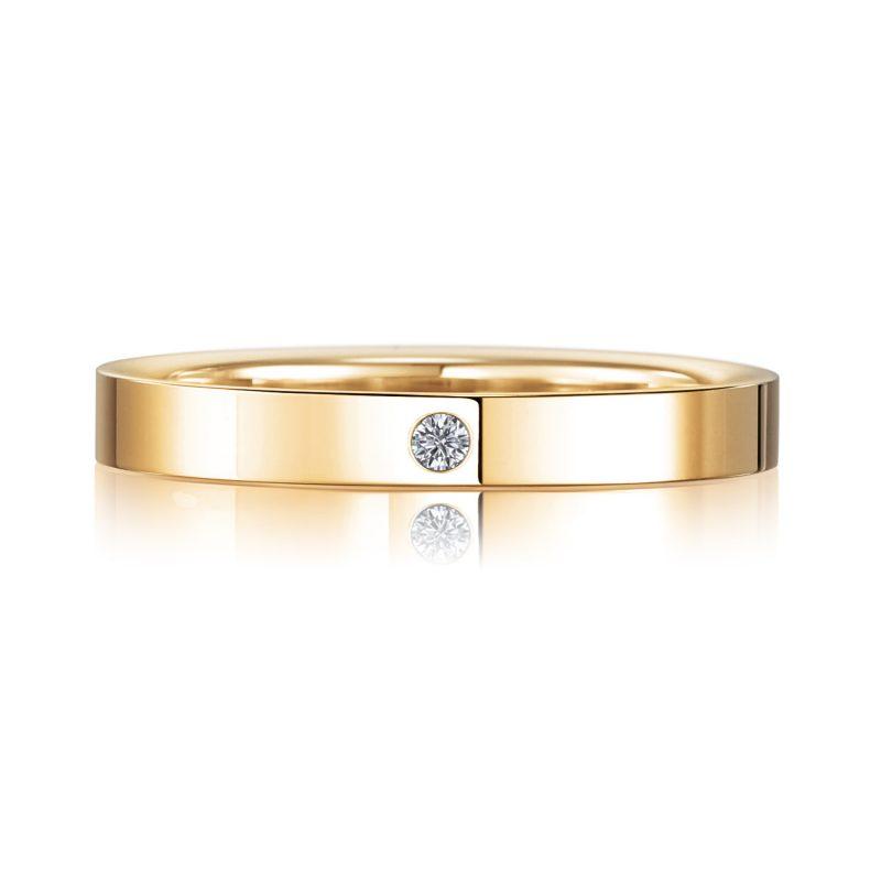 結婚指輪No2 Diamond 0.01ct ゴールド