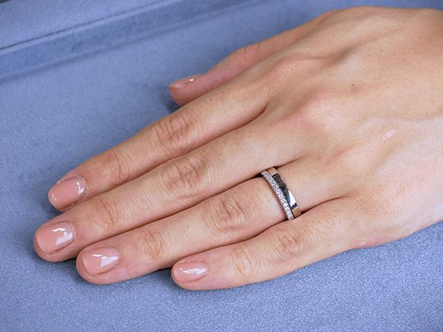 結婚指輪No2 女性用 プラチナ × エタニティリング Saint 合計0.20ct プラチナ