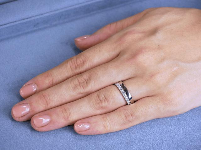結婚指輪No2 女性用 プラチナ × エタニティリング Saint 合計0.32ct プラチナ