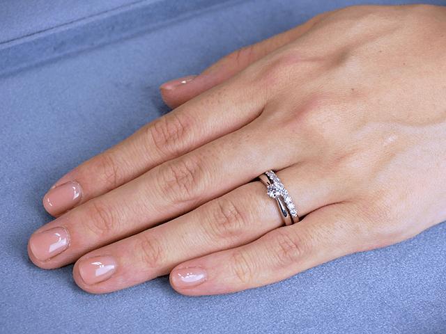 エタニティリング No1 0.36ct プラチナ × 婚約指輪 Polaris 0.30ct プラチナ