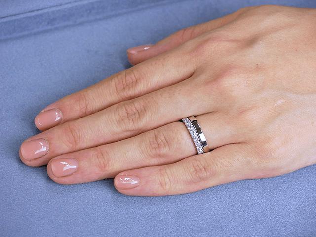 エタニティリング Saint 合計0.55ct プラチナ × 結婚指輪No2 女性用 プラチナ