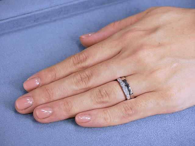 プリンセスカット エタニティリング 0.50ct プラチナ × 結婚指輪No2 女性用 プラチナ