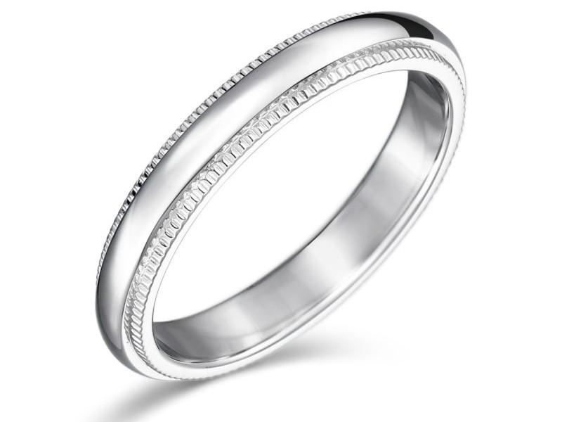 結婚指輪 ミルグレイン 女性用 プラチナ