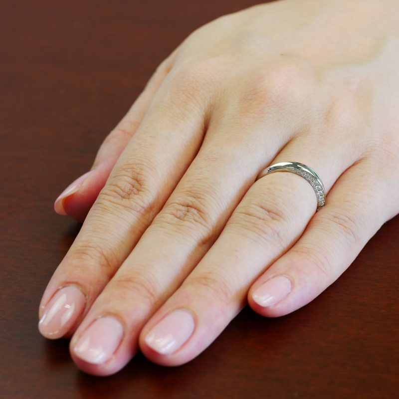 結婚指輪No4 Diamond 0.18ct プラチナ