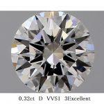 ダイヤモンド 0.32ct D VVS1 3Excellent