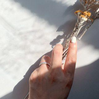 プリンセスカット レール留め 0.98ct プラチナ(幅3.4mm / Pt950)