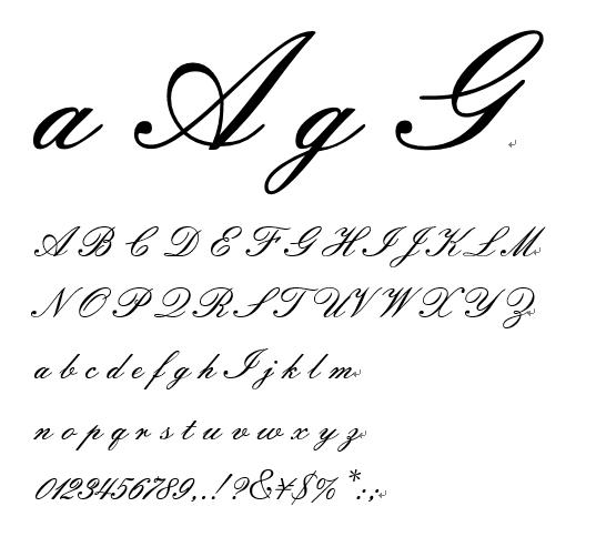 筆記体フォント