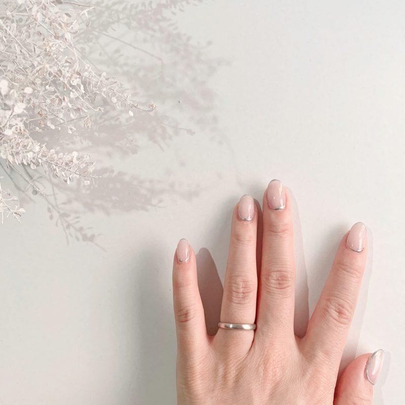 結婚指輪No1 女性用 プラチナ ツヤ消し(幅2.5mm / Pt950)