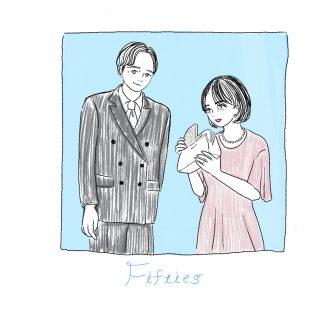 50代夫婦のフォーマルな服装のイラスト