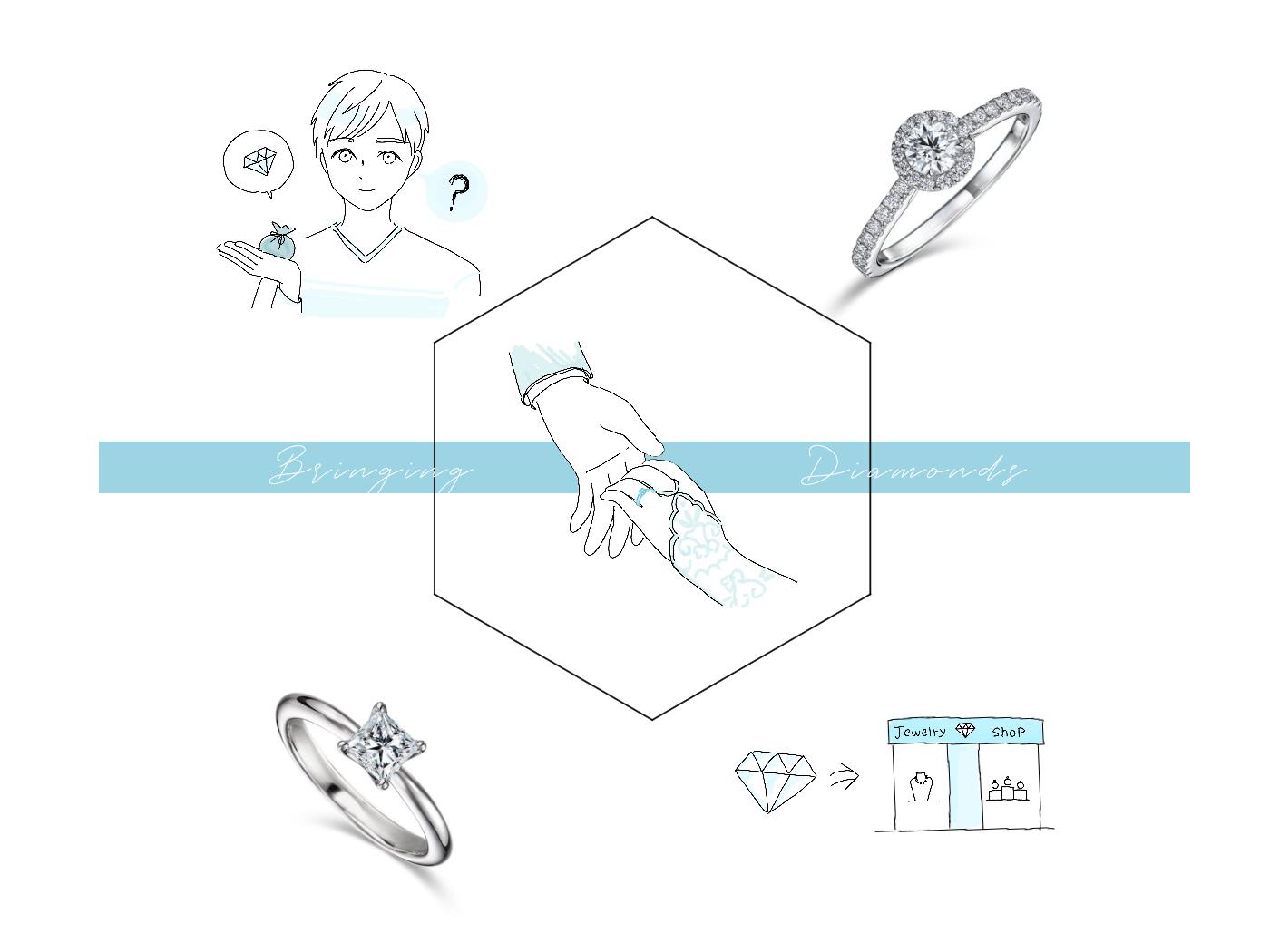 ダイヤモンドの持ち込みのイラスト集
