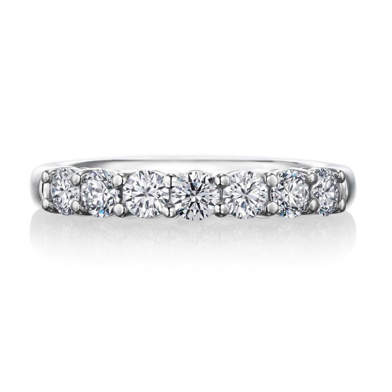 エタニティリング 0.63ctダイヤモンド プラチナ
