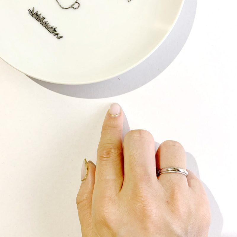結婚指輪 ミルグレイン (幅3.0mm / Pt900)