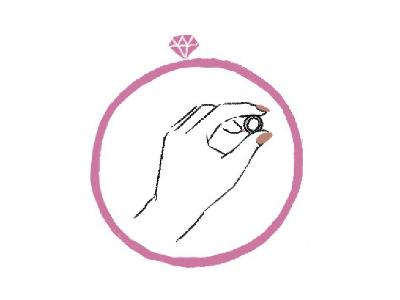 指輪を持つ手のイラスト